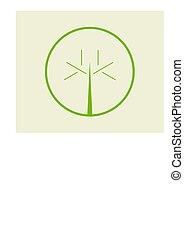 simple, logo, 2, arbre