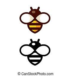 simple, logo, abeille