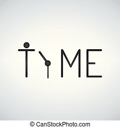 Simple logo concept for time, clock