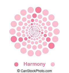 simple, logotipo, armonía, espiral
