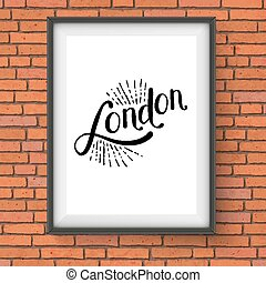 Simple London Message on a White Picture Frame