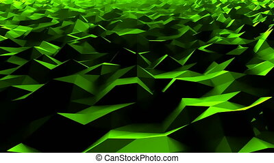 Simple low polygonal surface as sea water, computer...