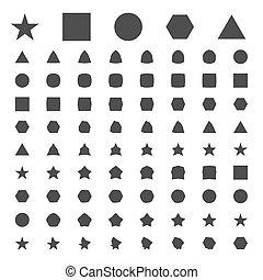 simple, métamorphose, géométrique, figures