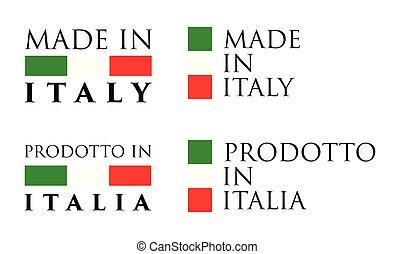 Simple Made in Italy / Prodotto in Italia (italian) label....