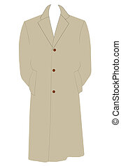 mans trenchcoat  - simple mans trenchcoat