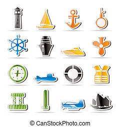 Simple Marine, Sailing and Sea Icon