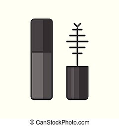 Simple mascara icon, filled outline