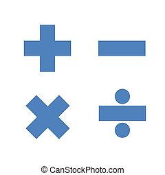 Simple mathematics symbols - Blue simple mathematics symbols...