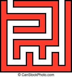 Simple Maze Cutout