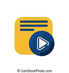 simple memo and pen button application icon and logo vector