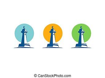 Simple minaret symbol, dome of the mosque logo - Vector