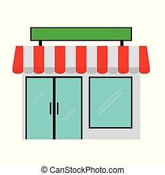simple mini market isolated on white