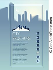 Simple minimalistic city skyline traveling tourist guide...