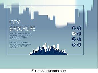 Simple minimalistic city skyline traveling tourist guide...