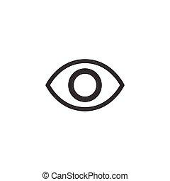 Simple minimalistic eye icon. vector illustration isolated on white background.