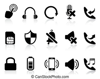 simple mobile icons - isolated simple mobile icons from...