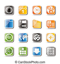 Simple Mobile Phone Icons