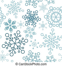 simple, modèle, flocons neige, noël, seamless