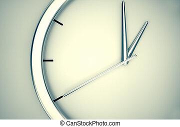 Simple modern clock. - Closeup on a simple modern clock...