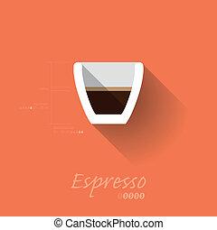 Simple Modern Espresso Manual Wallpaper