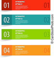 Simple modern infographics options banner.