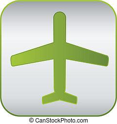 modern plane sign, vector icon.