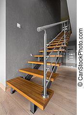 simple, moderne, regard, escalier