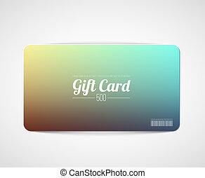 simple, moderno, tarjeta obsequio, plantilla