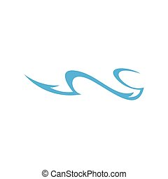 simple motion waves logo vector