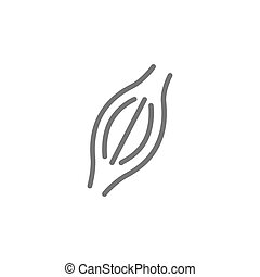 Simple muscle line icon. Symbol and sign vector illustration design. Editable Stroke. Isolated on white background