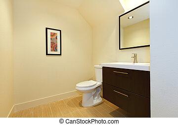 Simple new modern bathroom.