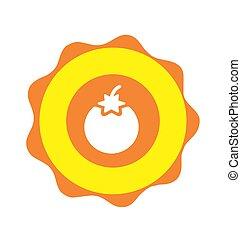O initial organic fruit and vegetable logo