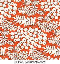Simple one-color rowanberry seamless pattern - Simple...