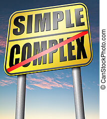 simple or complex problem - simple or complexity keep it...