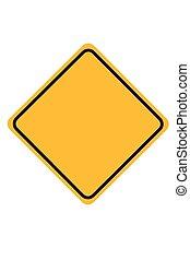 Simple Orange Blank Traffic Sign