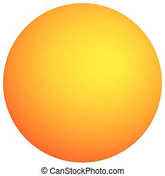 Simple orb with shaded effect. Colorful, bright circle with vivid, vibrant radial gradient filling. Circle icon with blank space on white.