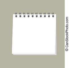 simple organizer vector illustration. template of blank page note pad