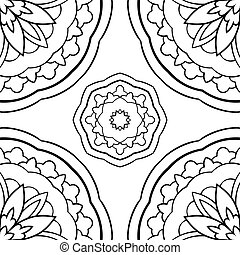 Simple ornament with mandalas.