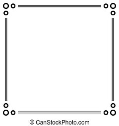 Simple ornamental decorative frame.