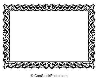 simple ornamental decorative frame - Vector simple...