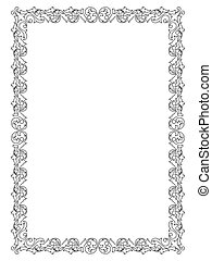 simple ornamental decorative frame - Vector simple...
