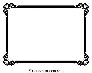 simple ornamental decorative frame