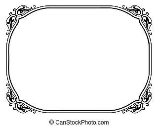 Vector simple calligraph ornamental decorative frame pattern