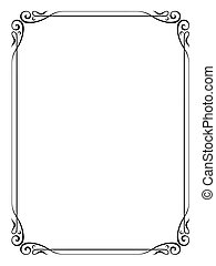 simple ornamental decorative frame - Vector simple ...