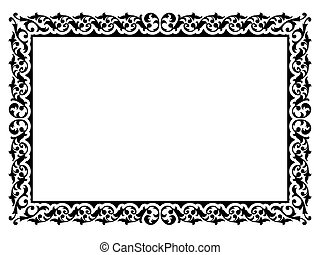 simple ornamental decorative frame - Vector simple ...