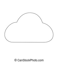 Simple outline weather cloud icon isolated on white background