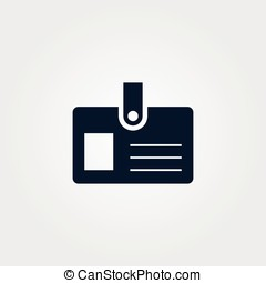 Simple pass icon vector illustration sign