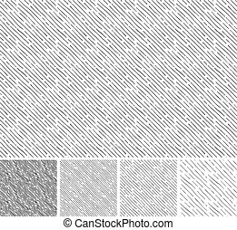 Seamless pattern of hand drawn sketches inclined parallel hatching grunge textures. Texture has four different shades. vector illustration