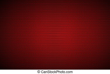 Simple perforated red metallic background, abstract wallpaper, vector illustration