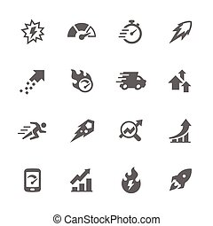 Simple Performance Icons - Simple Set of Performance Related...